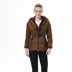 Bosideng Fashion Women's Short Shiny Slim Hooded Down Jacket BR2240 Bosideng. $146.60