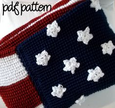 Crochet Pattern ~ AMERICAN FLAG AFGHAN, Old Glory ...