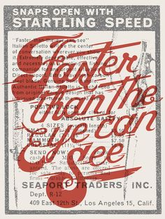 Typography / Faster Than The Eye Can See