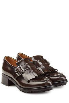#Churchs #Loafers aus #Leder mit #Fransenlasche #, #Braun für #Damen Loafers von…