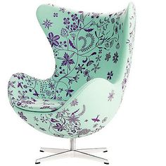 love the colours of this egg chair