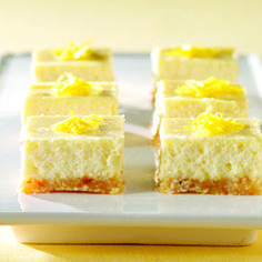 Enjoy a serving of these rich and indulgent cheesecake bars on a special occasion. To prepare this recipe for Passover, select food products that are kosher for Passover as needed. Consult with your rabbi if you have any questions.