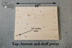 top bottom and shelf pieces Woodworking Tools List, Woodworking Software, Woodworking Furniture Plans, Popular Woodworking, Woodworking Projects, Wood Shop Projects, Wooden Projects, Diy Pallet Projects, Backyard Projects
