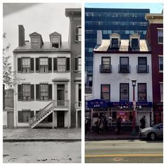 On the anniversary of Mary Surratt's hanging for her part in the assassination of Abraham Lincoln, a then & now of her Washington DC boarding house. Chinese restaurant on lower floor. American Revolutionary War, American Civil War, American History, Lincoln Assassination, Victorian Buildings, Civil War Photos, Mystery Of History, American Presidents, Photo Series