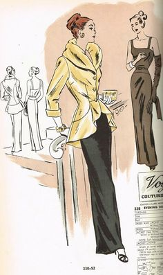 Vogue Counter Catalog, April 1947 featuring Vogue 338 Evening Dress and Jacket