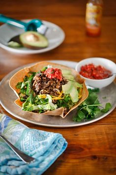 The Chubby Vegetarian: Taco Salad with Cumin-Spiced Mushroom Meat