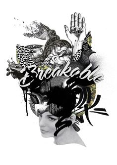 BREAKABLE illustration by Kayle Whitham www.kayle-whitham.com #kaylewhitham #art #illustration #collage #melbourne #poster #print