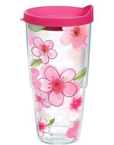 c6c0152f63 Floral Cherry Blossom Wrap with Lid - 24oz tumbler Tervis Tumbler