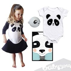 """""""Bear-y"""" excited for our new panda bear Whistle & Flute baseball tee and onesie 