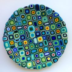 Love the color combos Slumped Glass, Fused Glass Plates, Fused Glass Jewelry, Fused Glass Art, Glass Dishes, Mosaic Glass, Mosaic Mirrors, Stained Glass, Mosaic Wall