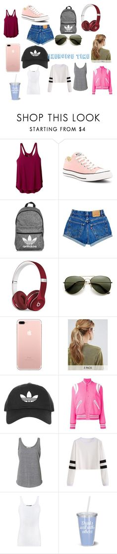 """exercise"" by punkie707 ❤ liked on Polyvore featuring prAna, Converse, adidas, Beats by Dr. Dre, Kitsch, Topshop, Yves Saint Laurent and Vince"
