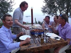 Get Away Sailing Owner Tony Zucco takes the customers on a panoramic hilltop dining experience in Croatia