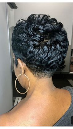 7 Black Hairstyles that are Low Maintenance Short Relaxed Hairstyles, Dope Hairstyles, Black Hairstyles, Pixie Hairstyles, Hairstyle Ideas, Short Hair Cuts, Short Hair Styles, Pixie Styles, Pixie Cuts