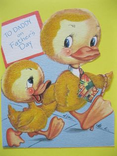 1950's flocked Father's Day card