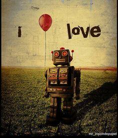 i love robots ☮~ Retro ROBOT ❤ Vintage illustration, design and poster art.