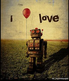 i love robots ☮~ Retro ROBOT ❤ Vintage illustration, design and poster art.
