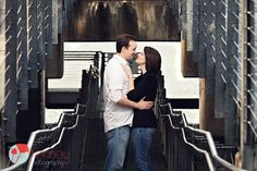 What a fun urban engagement session, Chattanooga TN!! Photography by: https://www.facebook.com/KenneyPhoto