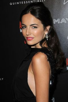 Camilla Belle: A Good Deed With Dominoes: Photo Camilla Belle helps support the Artists For Peace and Justice's Haiti earthquake relief efforts by attending the Hollywood Domino's Pre-Oscar gala held at Most Beautiful Faces, Beautiful Celebrities, Beautiful Actresses, Camila Belle, Belle Hairstyle, Curly Girl Method, Natural Hair Styles, Long Hair Styles, Provocateur