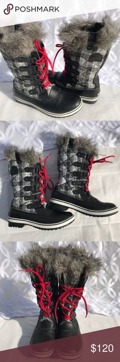 Sorel Tofino Quilted Plaid Waterproof Snow Boots Sorel Tofino Quilted Plaid Waterproof Snow Boots Women's 10 NL 1797- 010  - Excellent Like/New  Condition, very light wear to the outside no wear to the inside. I do not have the Original box.....See all Pictures! Sorel Shoes Winter & Rain Boots