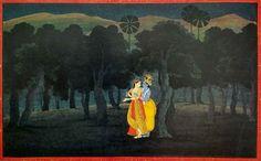 Gita Govinda. Gen. 1 after Nainsukh. 1775.  Kronos Colln.