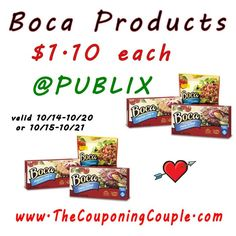 Boca Deal @ Publix $1.10 each starting 10/14 or 10/15-10/21. Print NOW! If you like Boca Products this is a great time to stock a few packs.  Click the link below to get all of the details ► http://www.thecouponingcouple.com/boca-deal-publix-1-10-each-thru-1021/ #Coupons #Couponing #CouponCommunity  Visit us at http://www.thecouponingcouple.com for more great posts!