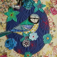 i love this type of fabric art.....need to make a quilt using this method!!!!