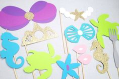 Mermaid Photo Booth Props  Mermaid Photo Booth by CleverMarten, $22.00