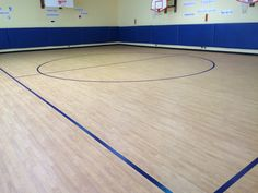 Completed Tarkett Sports Omnisports 8.3 GreenLay installation in White Plains, New York.