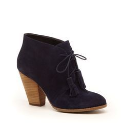 navy lace up bootie suede - Google Search