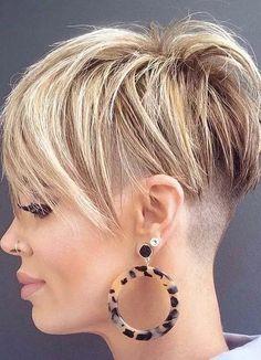 Best Undercut Short Pixie Hair Styles to Show Off in Current Year Pixie Haircut Styles, Pixie Cut Styles, Pixie Hairstyles, Cute Hairstyles, Short Hair Styles, Pixie Haircuts, Pixie Cuts, Short Pixie, Short Hair Cuts