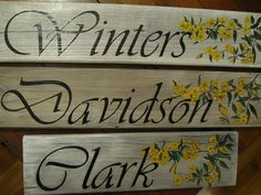 Picture of Hand-painted signs