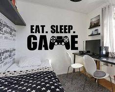 Gamer Bedroom, Boys Bedroom Decor, Bedroom Wall, Girls Bedroom, Boys Bedroom Ideas Tween, Teenage Boy Bedrooms, Boy Bedroom Designs, Teen Boy Rooms, Boys Black And White Bedroom