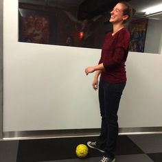 Lighten up, it's Friday! We're playing a little first floor end-of-week #soccer.
