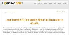 Local Search SEO Can Quickly Make You The Leader In Arizona