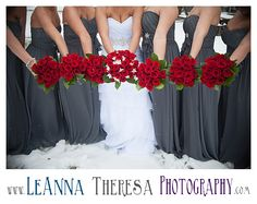 gray and red wedding | winter wedding | LeAnna Theresa Photography | http://www.leannatheresaphotography.com/terri-david-are-married-long-beach-island-wedding-photographer/