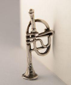 Miniature Silver trumpet Pendant
