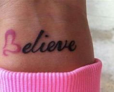 You should always Believe in yourself... When you believe, most likely, everything will go how you want it to!