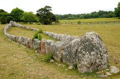 A ship barrow on Gotland. A ship barrow is a stone circle shaped like a ship. It was used during Viking times to mark a grave or a place of ceremony. There are about ten different ship barrows on Gotland.