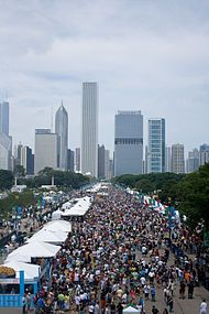 Taste of Chicago is the world's largest food festival, held annually for ten days in Grant Park