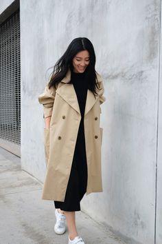 ANDY HEART | Coat | Dress | Tênis branco