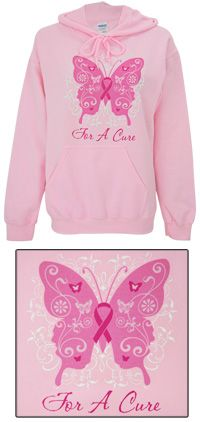 For a Cure Pink Ribbon Hooded Sweatshirt at The Breast Cancer Site