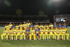 Chennai Super Kings during the Final of the Pepsi Indian Premier League between The Chennai Superkings and the Mumbai Indians held at the Eden Gardens Stadium in Kolkata on the 26th May 2013