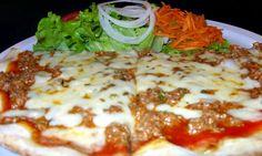 1/2 Pizza com salada
