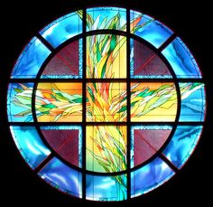 Santuary Window, Thornhill United Church, Thornhill, Ontario. Courtesy of Sarah Hall Studio.