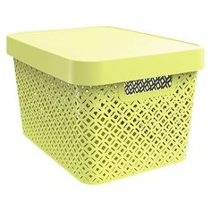 Decorative Large Bin - Yellow - Room Essentials™ : Target