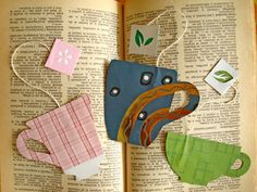 {Tea Cup Bookmarks}