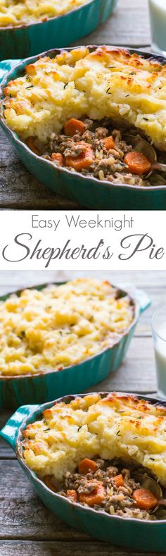 The BEST recipe for an Easy Shepherds Pie! Perfect comfort food for your family! | This recipe is Gluten Free, Dairy Free and has Paleo and whole30 options