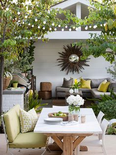 Casual Porch and Patio Dining  Enjoying meals outside is one of the perks of summer. Get inspired to create the perfect setting for a summer full of alfresco dining.