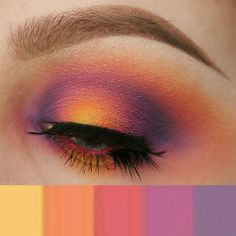 WEBSTA @ sleepologist - For example, here's the color combo that I based my look after. I've got several others saved in my phone! If you have any colors you want me to do, send them my way! Xo.All eyeshadow is @morphebrushes 35B palette. Lashes are @cocoslashbar in Affe. Contacts are @eyemazingcolors in Sweety grey. Brows are @anastasiabeverlyhills dipbrow in taupe with ash brown.