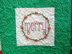 Christmas quilt - merry